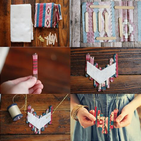 diy crafts with popsicle sticks sincerely kinsey popsicle stick necklace diy