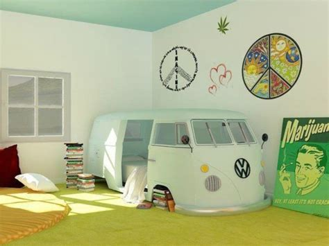 hippie van bed jewels volkswagen twin size small bed bedding hipster