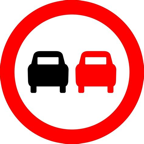 Road Signs by No Overtaking Road Sign
