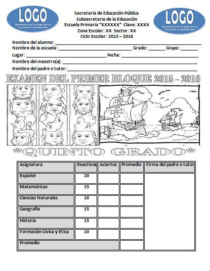 examen de quinto de primaria tercer bloque examen para el quinto grado del primer bloque del ciclo