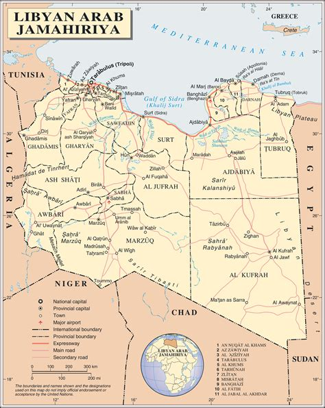 map of libya detailed political and administrative map of libya with all cities roads and airports vidiani