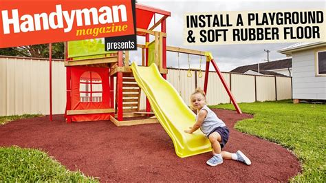 build  playground install  soft rubber floor