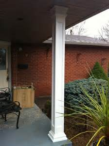 square recessed fiberglass column porch toronto by aimg inc