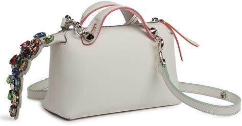 Fendi By The Way M3569 1 fendi by the way mini croc satchel in white white multi lyst