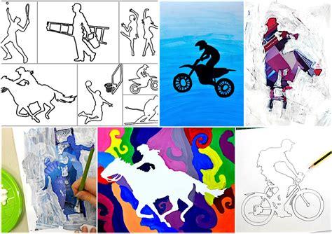 test d ingresso arte e immagine scuola media figure s silhouette 22 worksheets