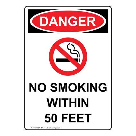 no smoking sign osha portrait osha no smoking within 50 feet sign with symbol