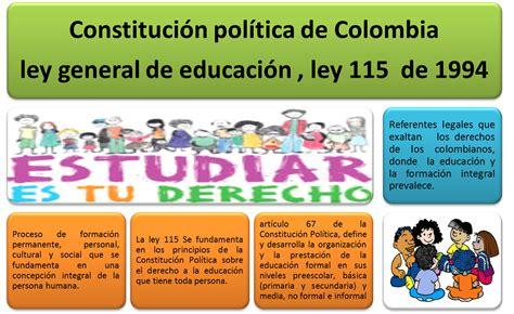 el ogeto de lalei 115de 1994 educar preescolares plan nacional de desarrollo y