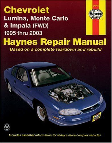 chevy impala chevrolet monte carlo repair shop manual 2006 2011 jeff kibler author profile news books and speaking inquiries