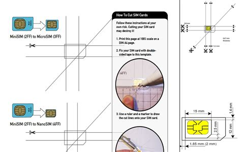 Cutting A Sim Card To Fit Iphone 5 Template by Micro Sim Template Cyberuse