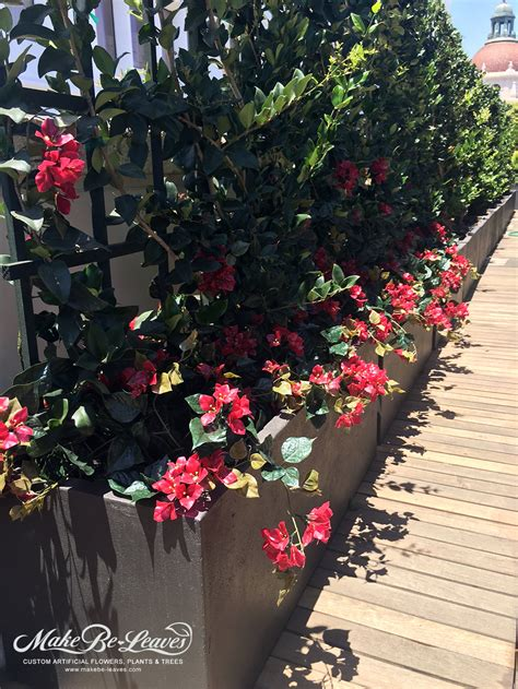 Floral Interiors Artificial Flowers And Trees integrating uv exterior artificial plants with live