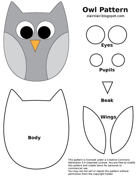 free printable owl pattern template fpf owl pattern png google drive printables for free