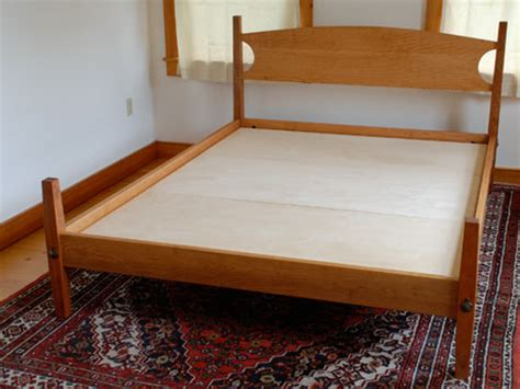 Handmade Platform Beds - handmade custom cherry shaker hardwood platform bed from