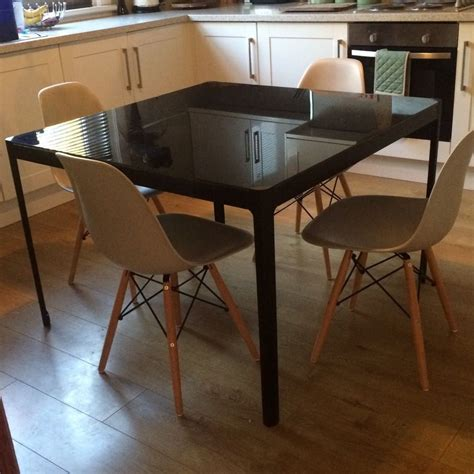 Ikea Glass Top Dining Table Ikea Glassg Table Is Also Of Sets And Chairs