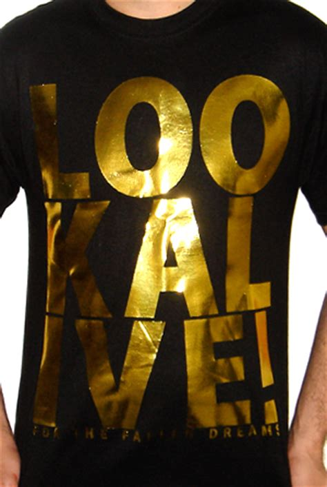 look alive black w gold foil t shirt for the fallen