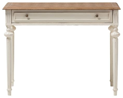 marquetterie writing desk weathered oak and whitewash