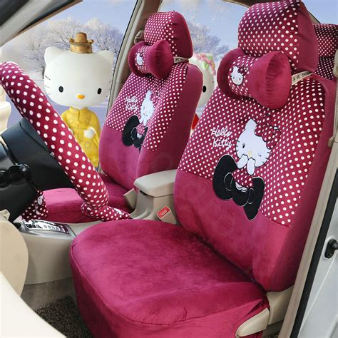 Carset 18 In Hello buy wholesale pretty polka dots hello universal automobile plush velvet car seat cover