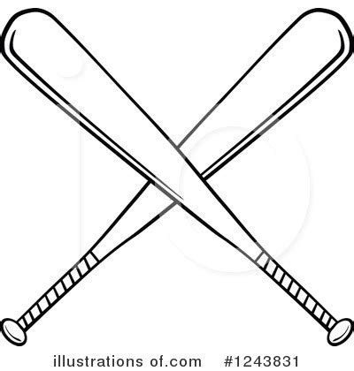 baseball bat clipart #1243831 illustration by hit toon