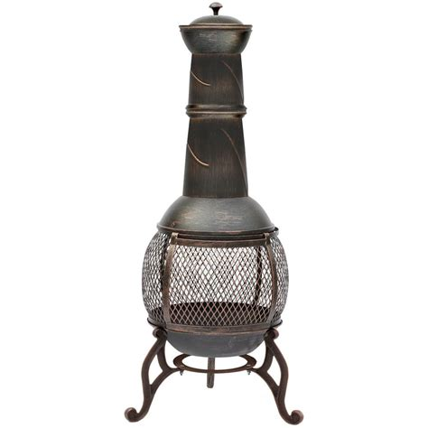 chiminea spark lid steel chiminea pit outdoor garden patio heater bbq