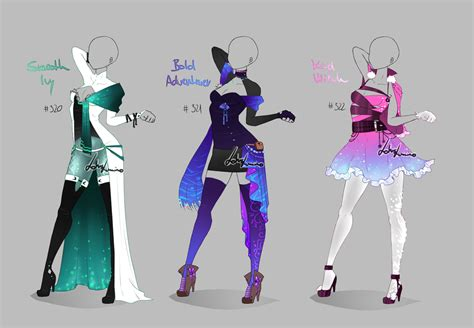 themes for clothing design outfit design 320 322 closed by lotuslumino on