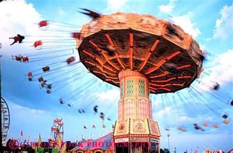 spinning swing ride amusement park ride stock photo 5177