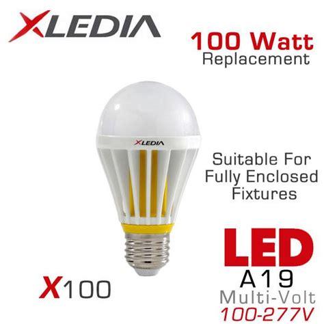 light bulbs for enclosed fixtures xledia x100l 100 watt equal a19 led for fully enclosed