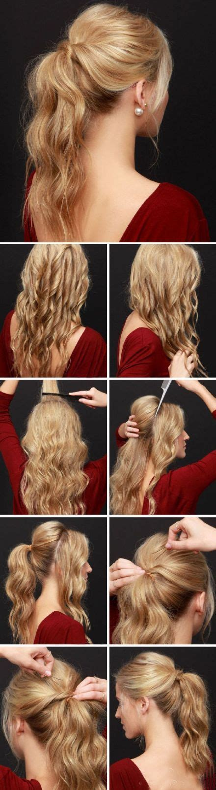 Images Of Hair Binding Curl Style | romantic long curly hair ponytail style hair binding