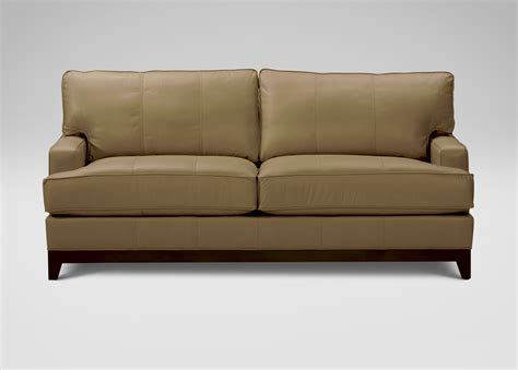 arcata leather sofa ethan allen
