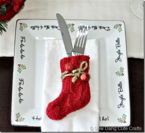 pattern for christmas stocking cutlery holder pottery barn inspired flatware stockings swell noel idea