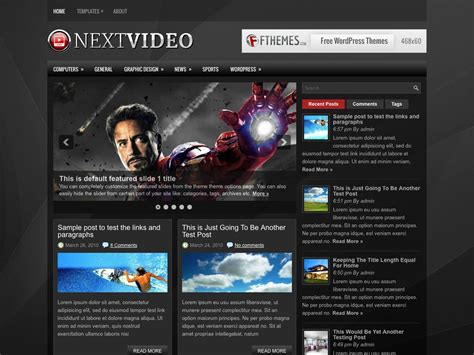 themes podcast generator nice video template for wordpress gallery entry level