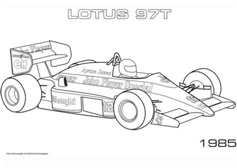 Formel 1 Auto Malen by Ausmalbild 1985 Lotus 97t Ausmalbilder Kostenlos Zum