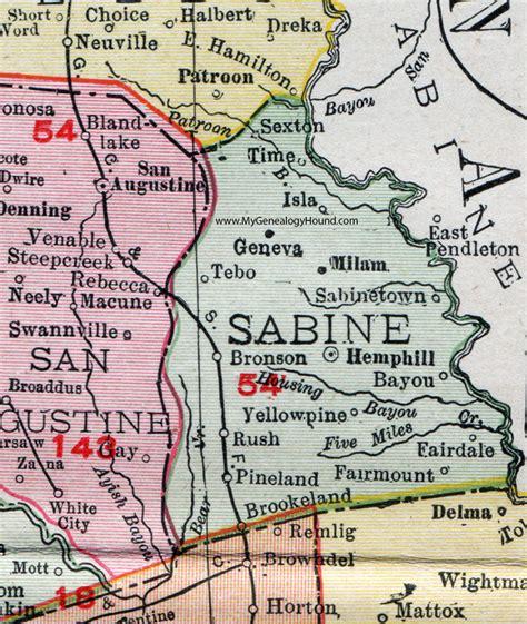 sabine county texas map sabine county texas 1911 map rand mcnally hemphill bronson pineland