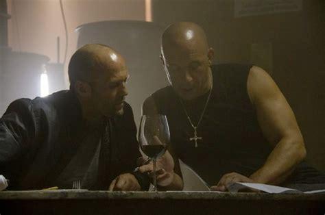 fast and furious jason statham scene vin diesel jason statham shiny heads on fast furious