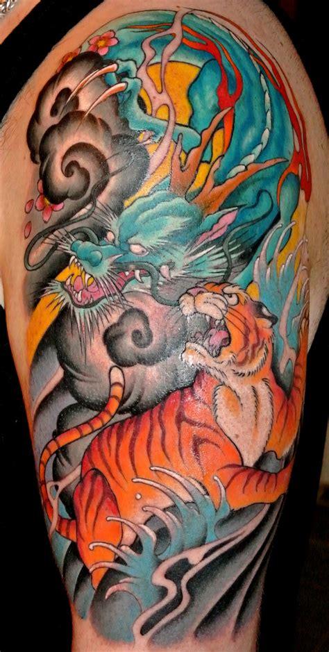 tiger dragon tattoo tiger wallpaper