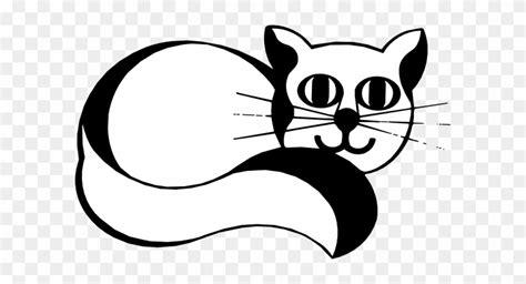 animasi kucing kartun hitam putih