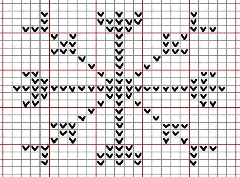 snowflake graph pattern knit snowflake2 chart yellowteddyorguk gif knitting and