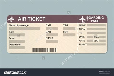 Plane Ticket Template Shatterlion Info Plane Ticket Template Pdf