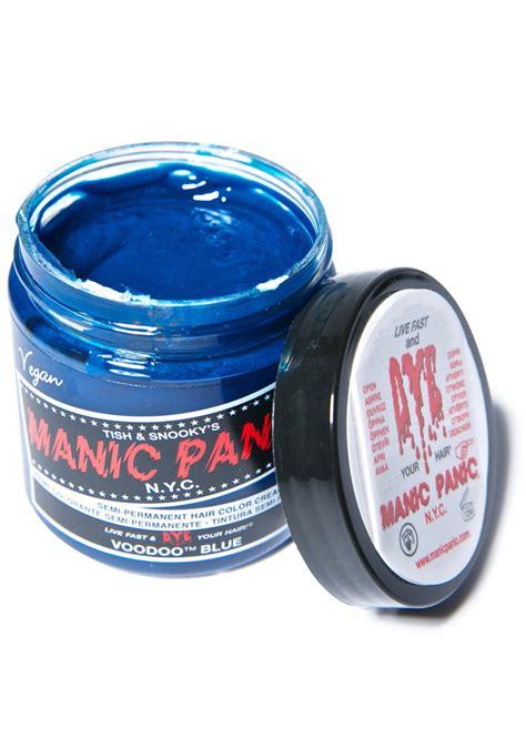 blue manic panic hair dye manic panic voodoo blue classic hair dye dolls kill