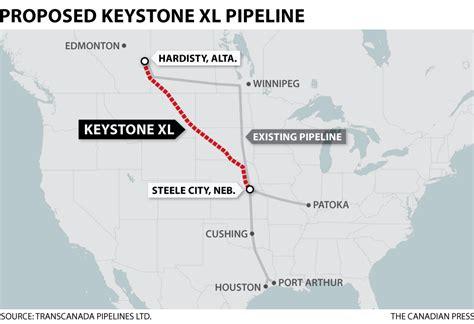 keystone pipeline map clinton opposes keystone xl pipeline business cbc news