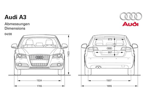 Audi Abmessungen fourtitude audi s3 dimension drawing