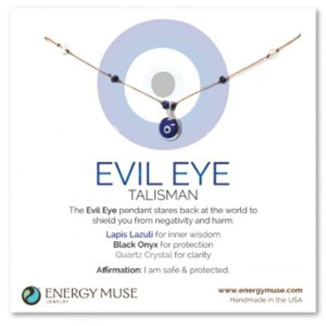evil eye jewelry crystals for protection from negative