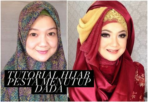 tutorial hijab menutup dada ini vindy yang ajaib tutorial hijab pesta menutup dada