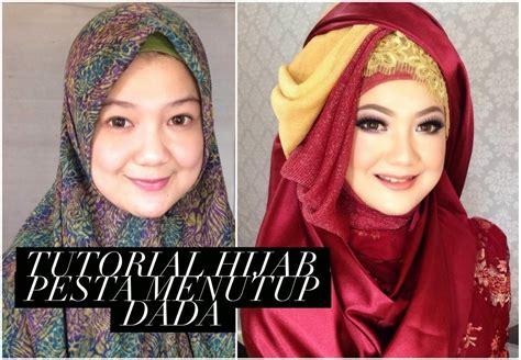 tutorial jilbab syar i menutup dada ini vindy yang ajaib tutorial hijab pesta menutup dada