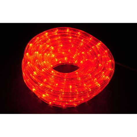 qtx ip44 rated led rope light 50m reel red astounded