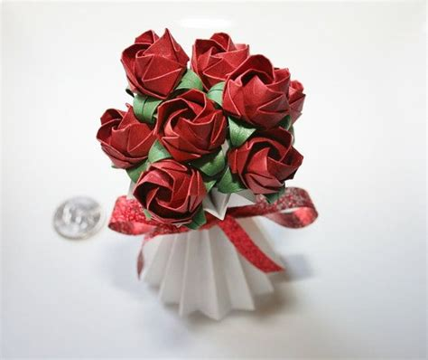 Origami Bouquet Of Roses - 46 best thepaperdecor origami paper images on