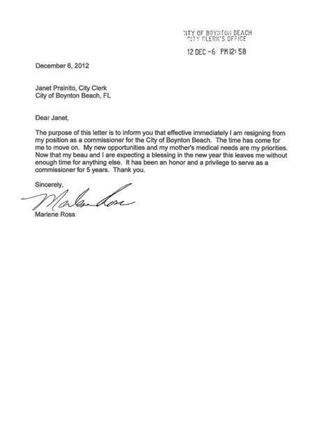 short  sweet resignation letter  style