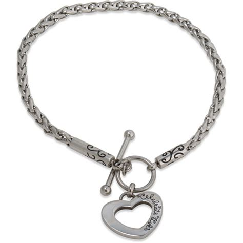 hallmark charm bracelet connections from hallmark stainless steel toggle