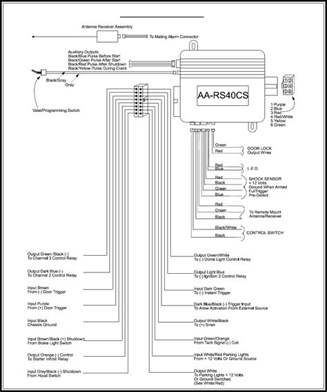 audiovox alarm wiring diagrams audiovox remote start