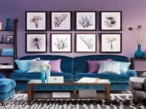 purple blue living room home decor