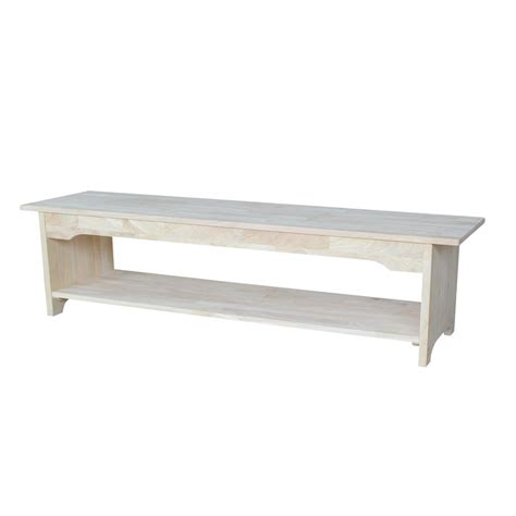 unfinished bench international concepts unfinished storage bench be 60