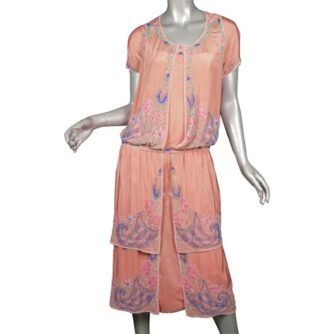 beaded 1920s dress 1920s beaded silk flapper dress superb from giddy on ruby